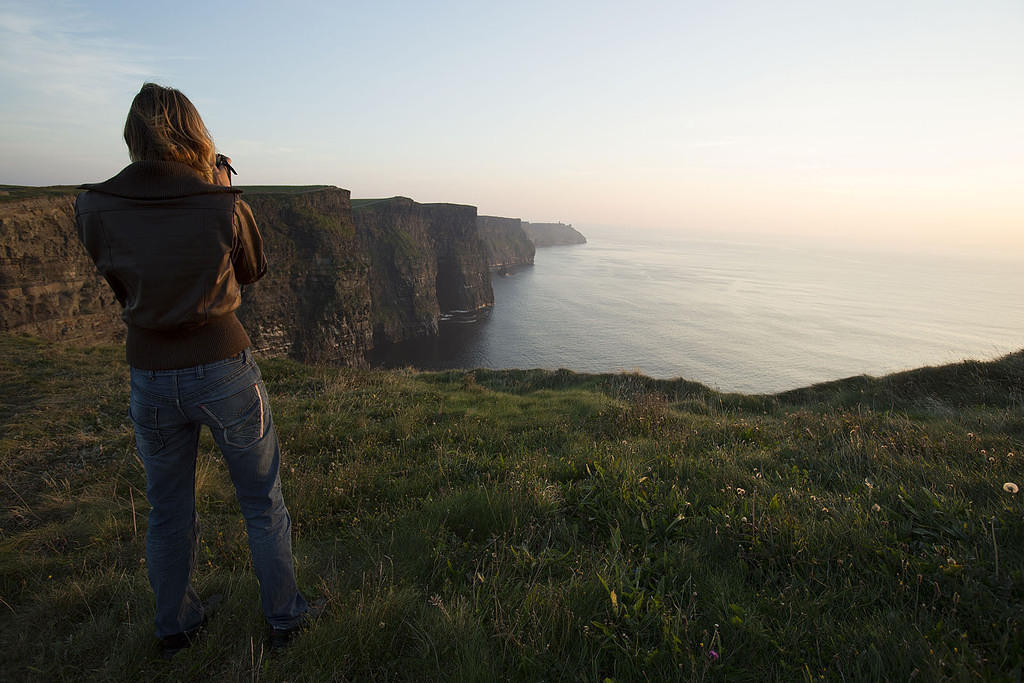 Jenny at Cliffs of Moher