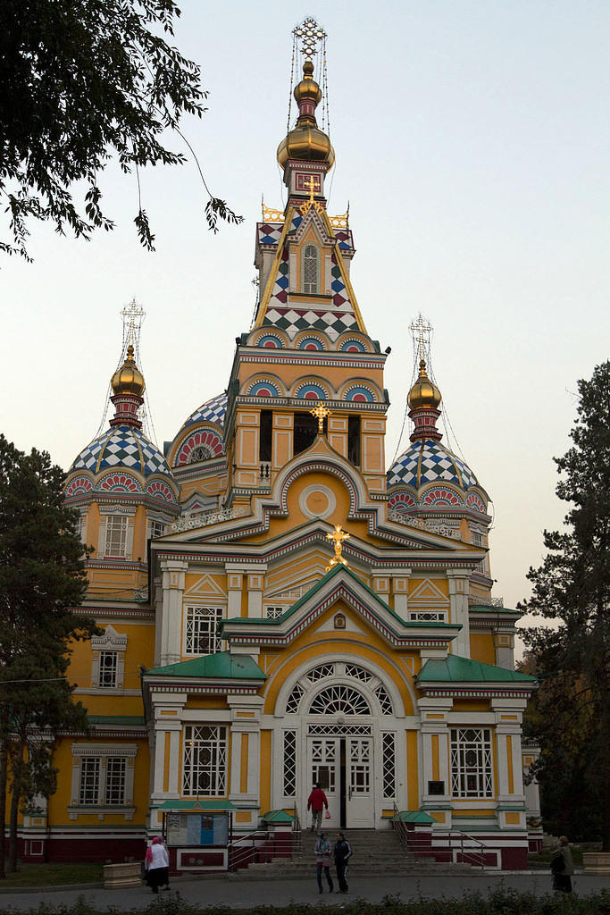 Ascension Cathedral, Almaty.  The second tallest wooden building in the world.