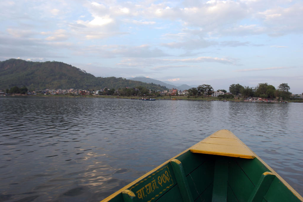 Pokhara from the water again.