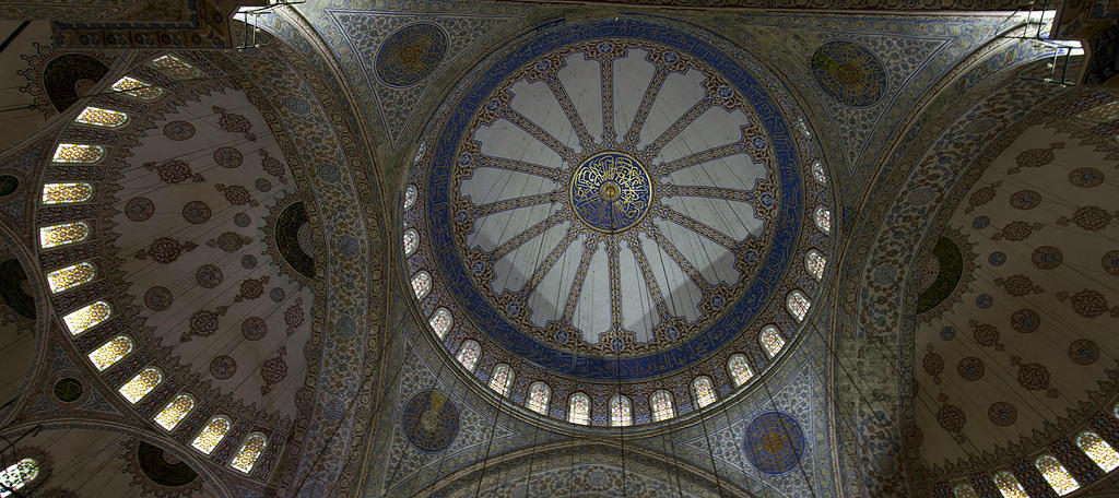 Blue Mosque ceiling, Istanbul