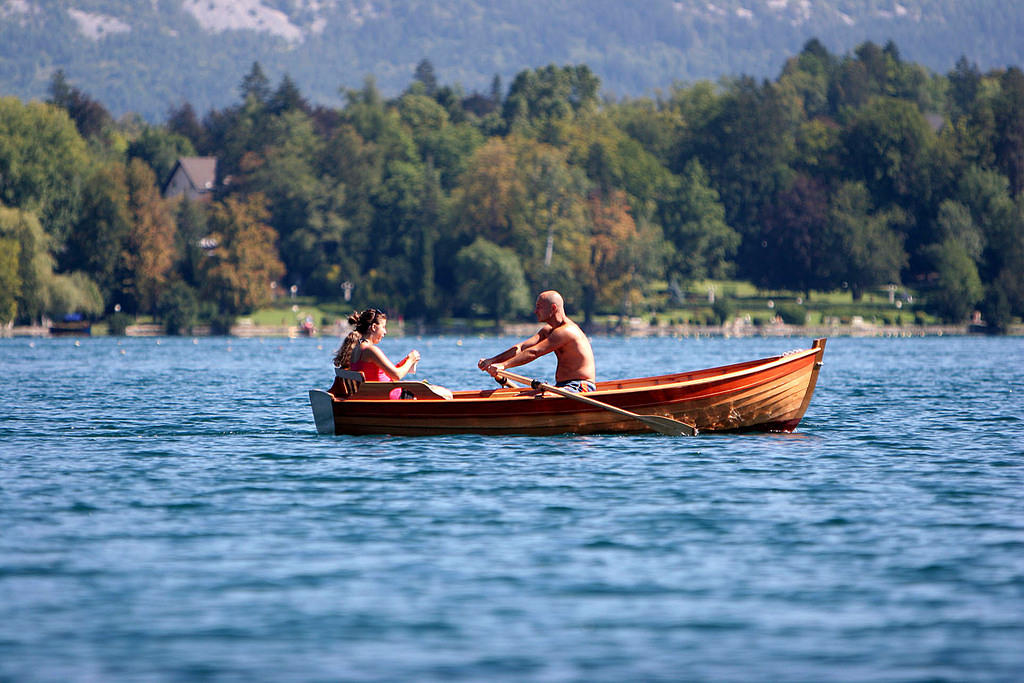 Rowing on Lake Bled, Slovenia