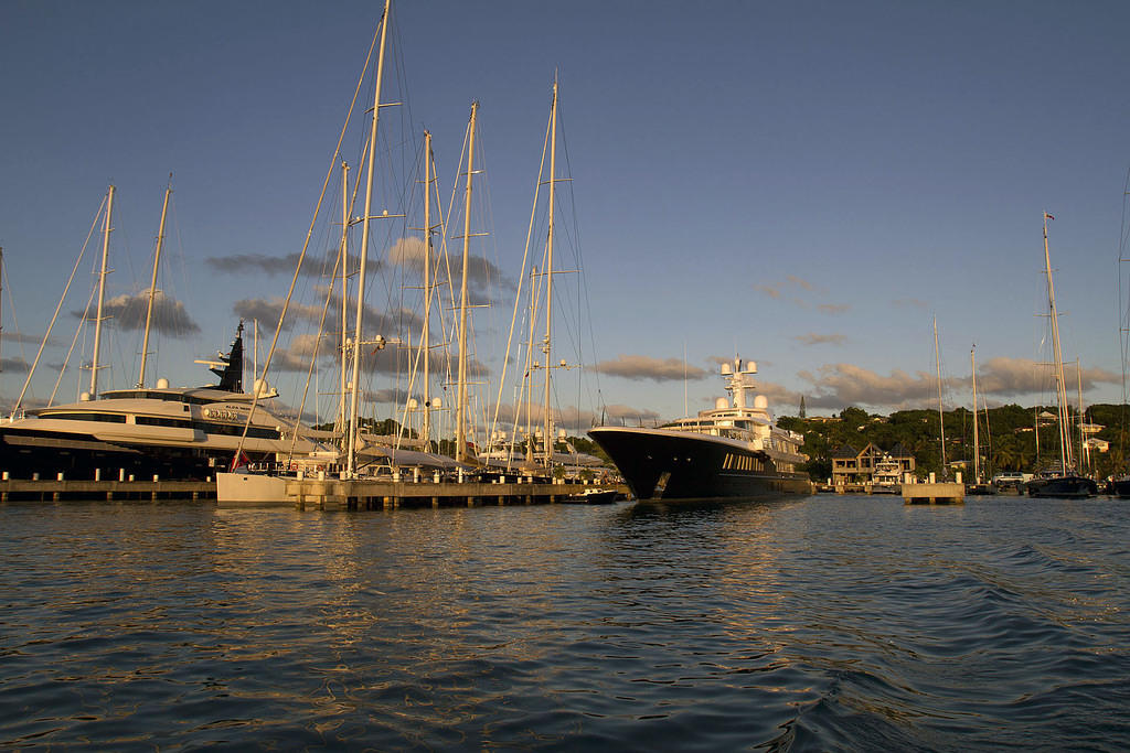 Some casual leisure ships in Falmouth Harbor, Antigua
