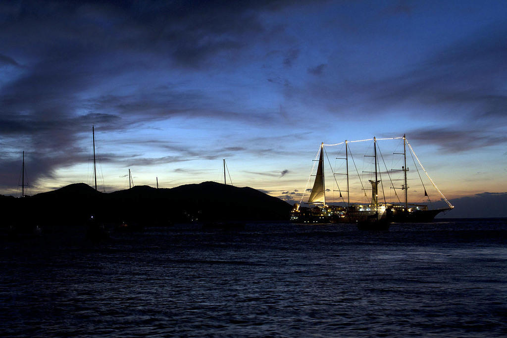 Wind Spirit at night in Les Saintes