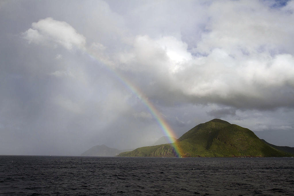 Rainbow over Martinique