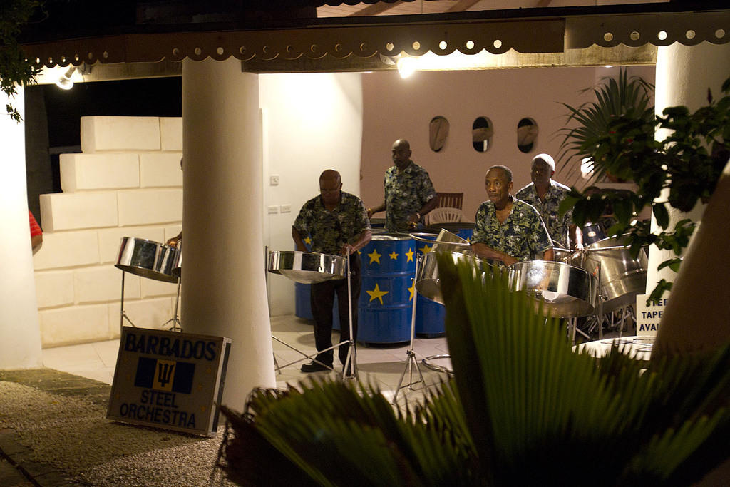 The #1 steel band of Barbados playing Feliz Navidad