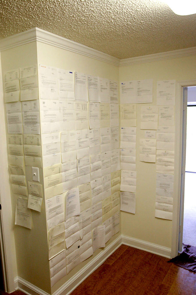 My wall of rejection