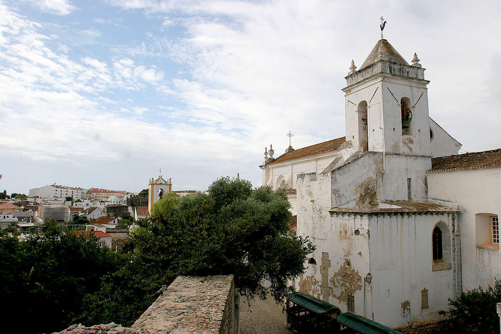 Atop the castle ruins in Tavira