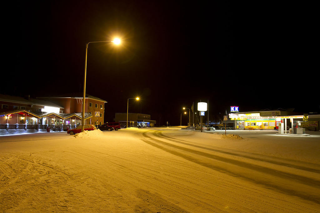 Hotel Inari and the supermarket