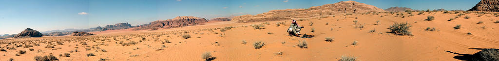 Wadi Rum panorama, with lunch