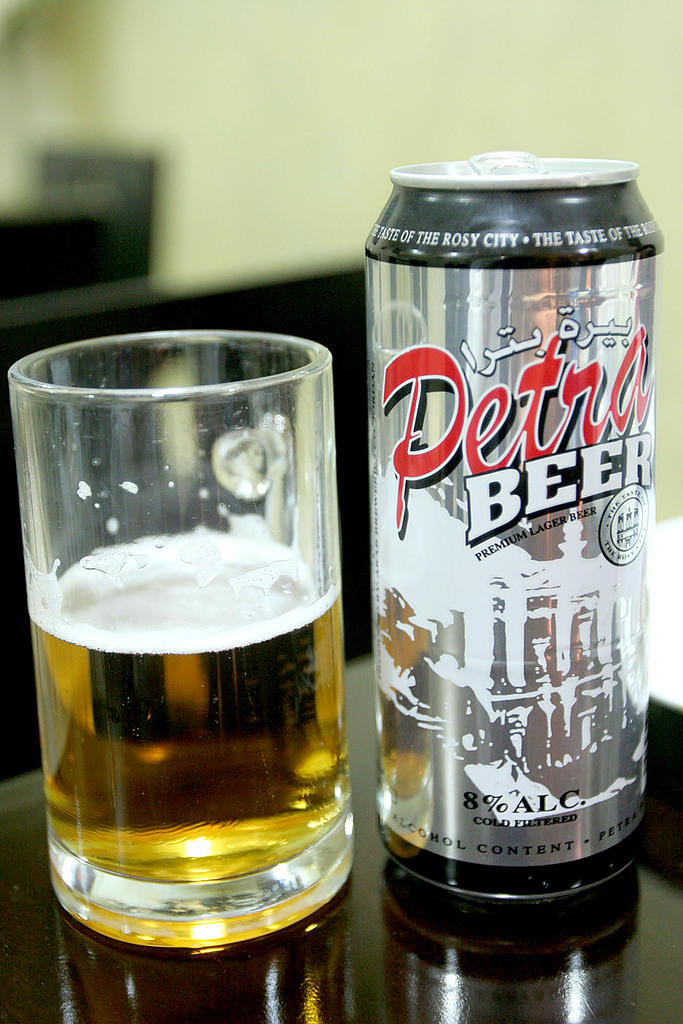 Petra beer.  I couldn't find it anywhere in Petra/Wadi Musa, but tracked it down in Madaba.