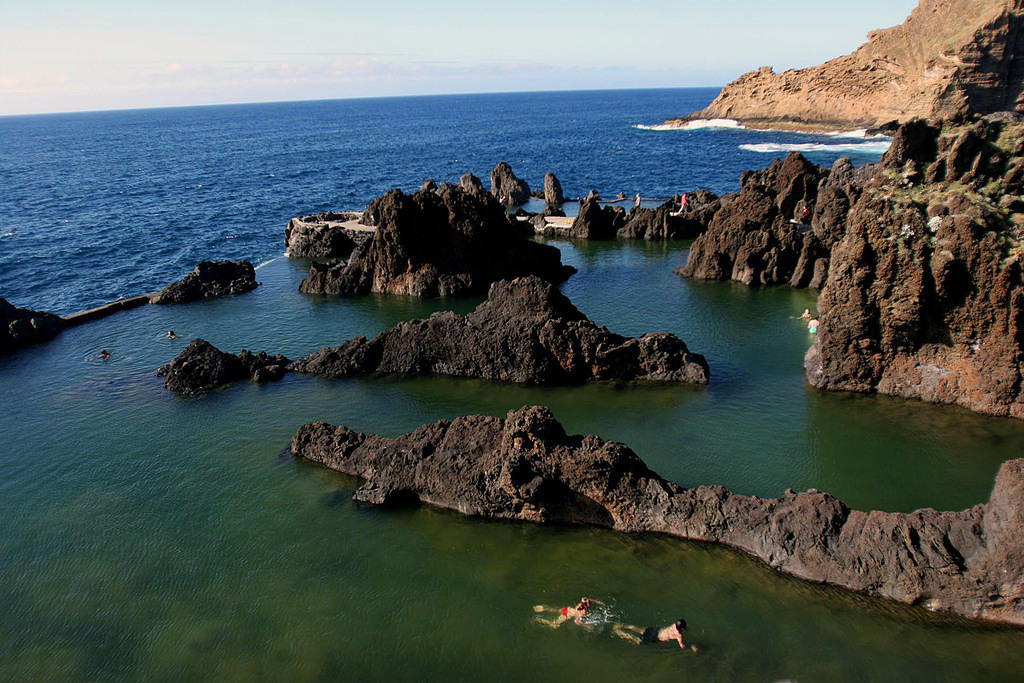 Natural saltwater swimming pools in Porto Moniz
