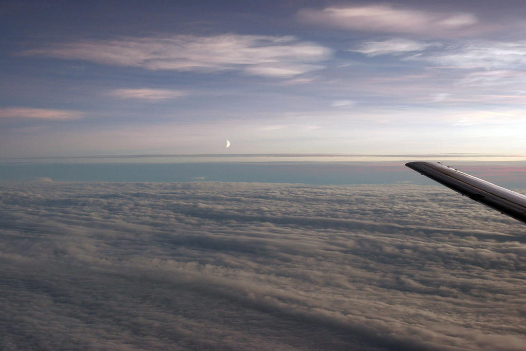 Pretty awesome shot of the moon, on our way to Svalbard.
