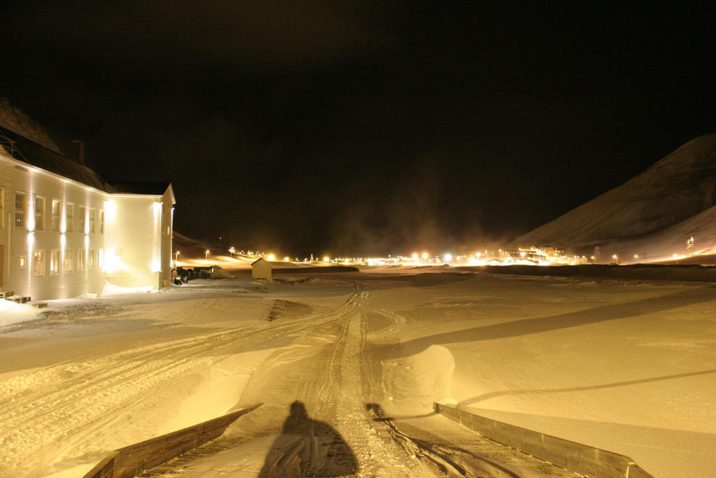 View of Longyearbyen from The House