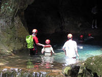 Cave entrance before the swim