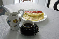 Coffee and omelete