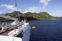 Moored in Huahine