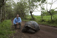 Me and a Galapagos Tortoise