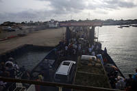 Ferry across Gambia