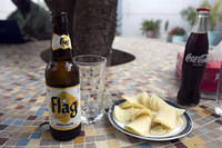 Flag beer in Dakar