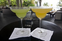 Kiwi daiquiri and mango daiquiri