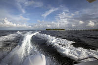 Leaving by speedboat