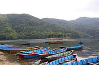 Canoes in Pokhara.