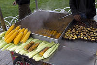 Grilled corn and horse chestnuts