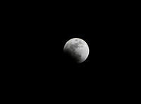 Start of lunar eclipse.