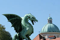 Dragon attacks Ljubljana, Slovenia