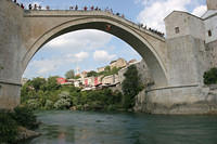 Diver leaping off Stari Most