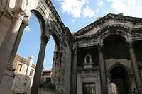 Diocletian's palace in Split, with intact Sphinx