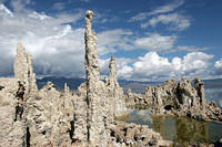 "These stacks bubble up from the lake bed, forming ""tufa"""