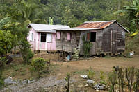 Carib housing in Carib Territory, Dominica