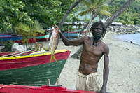 Local St Lucian fisherman
