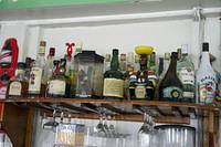 Some of the rums available at Hemingway's in Antigua