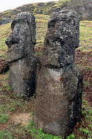 Notice the ship carved on this moai's (Ko Kona He Roa) chest