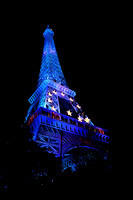 Eiffel Tower, dressed up like the EU flag for Halloween