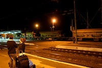 Waiting for a train in Sidi Kacem