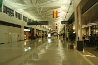 Ordinarily, Dulles airport is a horrible place.  It's not as bad when it's completely empty.