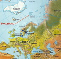 Svalbard is very far north.