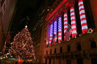 New York Stock Exchange at Christmas 2008